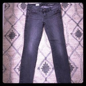 Gap 1969 gray skinny jeans
